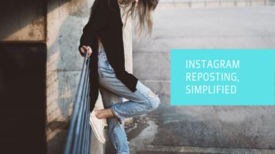Instagram reposting, simplified