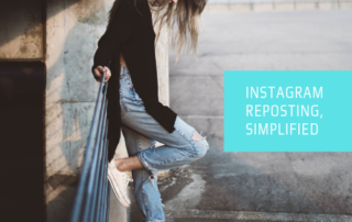 Instagram reposting, simplified