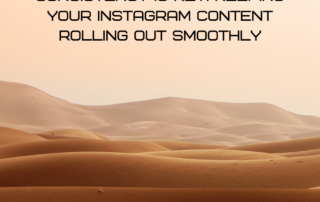 Consistency is key Keeping your Instagram content rolling out smoothly