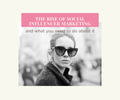 The rise of social influencer marketing