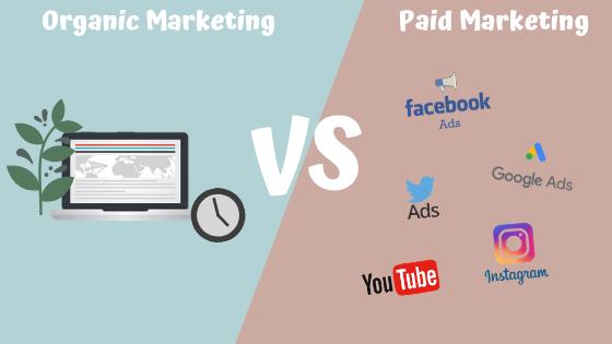 organic or paid advertising